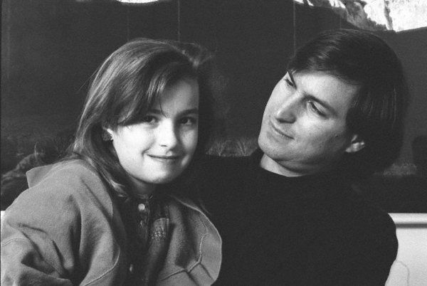 Lisa Brennan Jobs med pappa Steve.